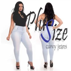 Plus Size Jeans Tx721 delavê wonder pants