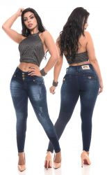 Skini Jeans feminina Ss021 cós largo super stretch