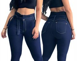 Calça Clochard Blue Jeans Super Stretch