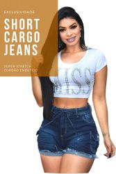 Shorts CARGO jeans Mx240642 com stretch