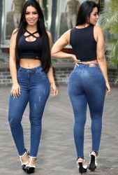Calça hot pants jeans Mx270524 stretch