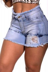 Shorts Jeans Stretch By1129 detalhe renda
