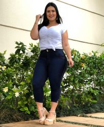 Capri Jeans PLUS SIZE Ch1473e com stretch