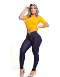 Calça Hot Dark blue By1354 super stretch