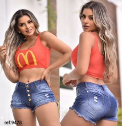 Shorts Jeans Uk9478 com stretch